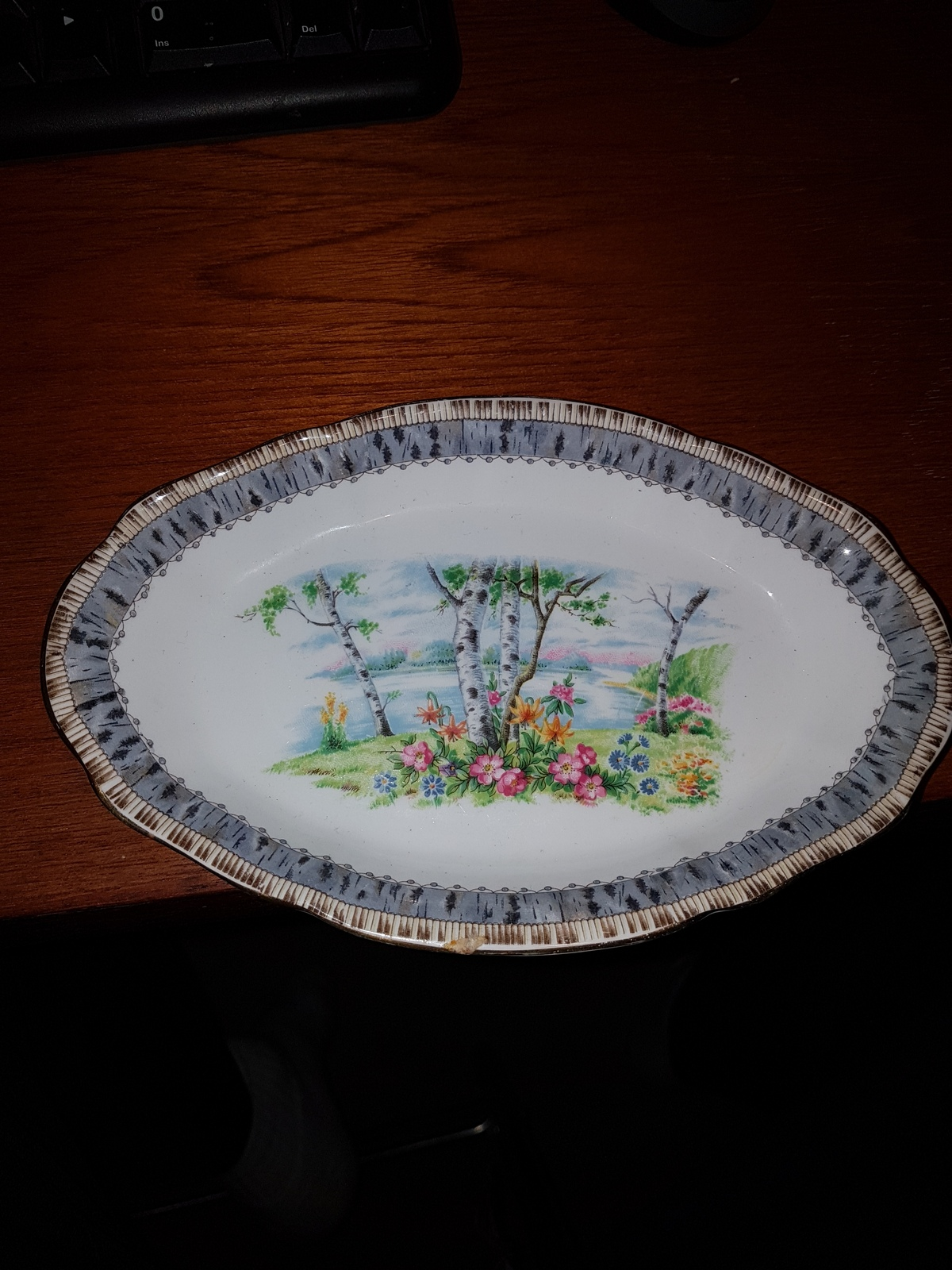 Primary image for Silver Birch tray bone China Royal Albert #32