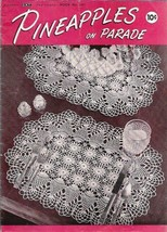 PINEAPPLES on Parade Coats Clarks Book 241 Vintage 1948 Doilies & More - $6.92
