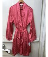 Morgan Taylor Intimates Papaya Pink Satin Short Robe Size XL NWT - $24.95