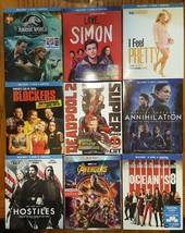 Blu-ray New Release lot Avengers Oceans 8 Deadpool Jurassic World Blockers Simon