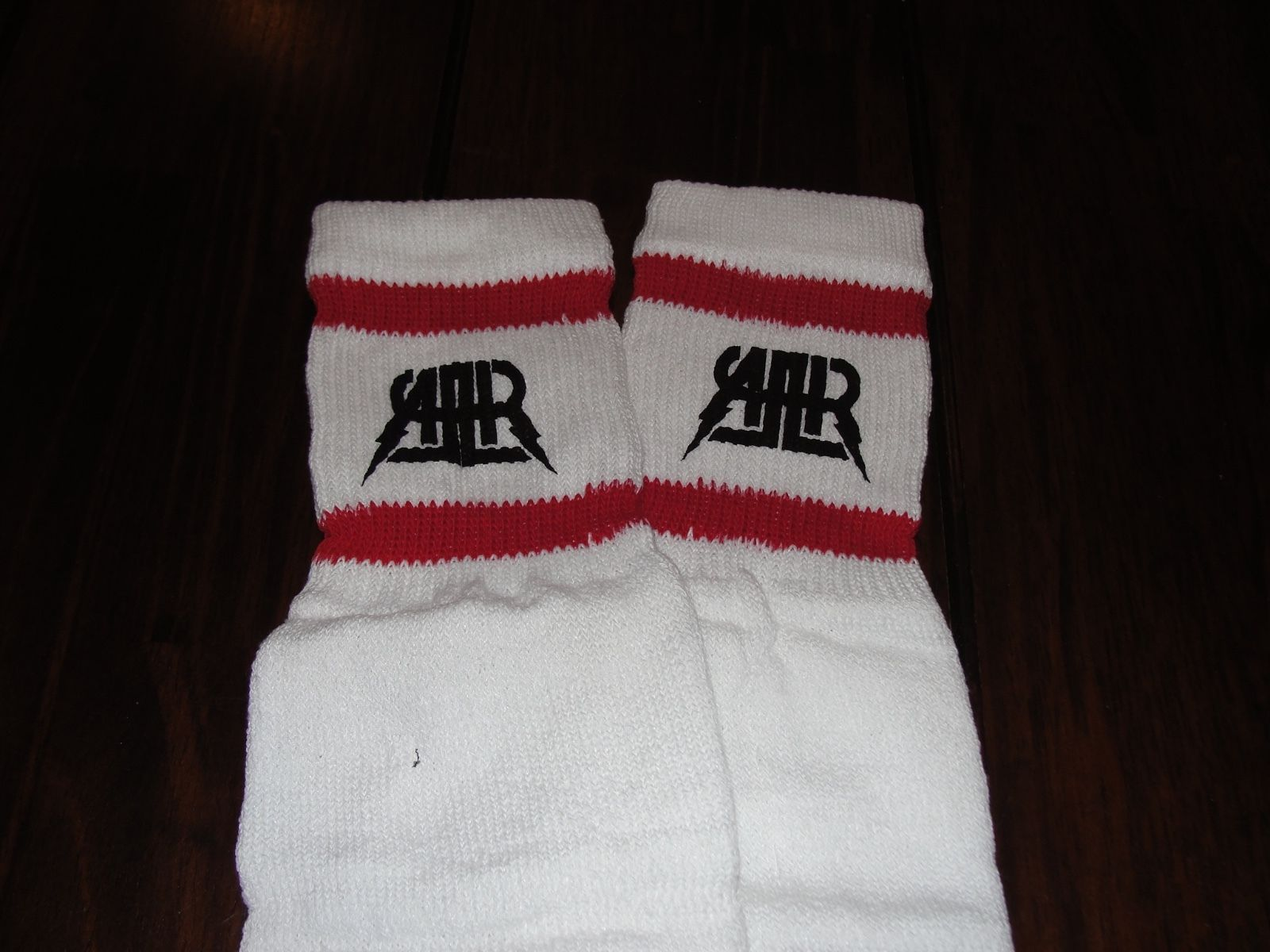 All American Rejects striped socks (fall out boy blink 182) rare