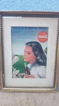 1945 year  -  PAPER AD - Coca Cola  - Framed   Argentina in Spanish  (Canada) - $24.72