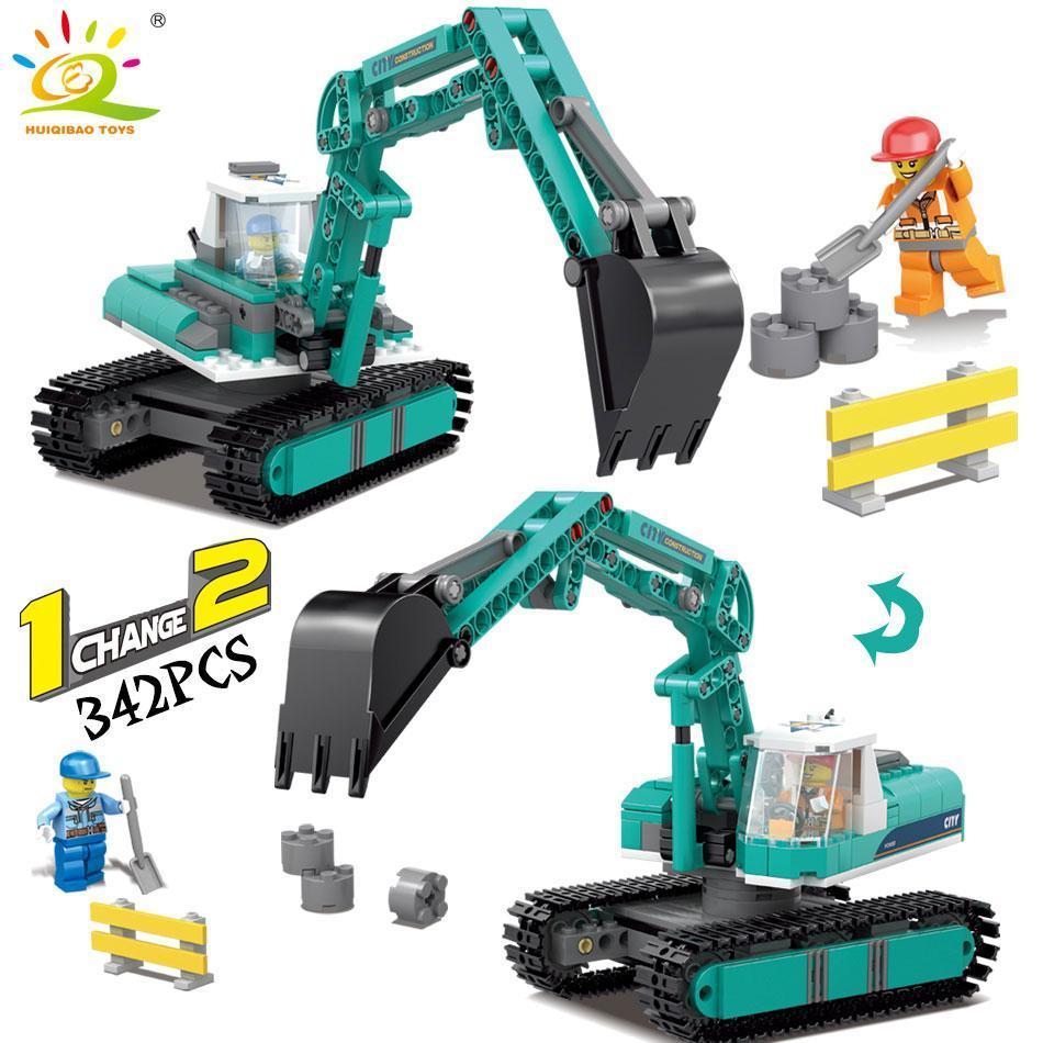 Engineering excavator vehicles bulldozer Model Building Blocks Compatible city