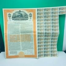 Railroad train company stock bond ephemera certificate mortgage reading ... - $33.73