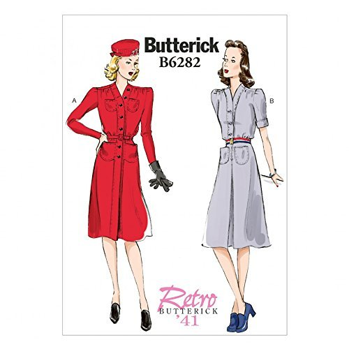 Primary image for Butterick Ladies Sewing Pattern 6282 Vintage Style Dresses & Belt