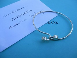 100% Genuine Tiffany & Co 2 hearts cross over bangle - sterling silver 18k gold - $178.79