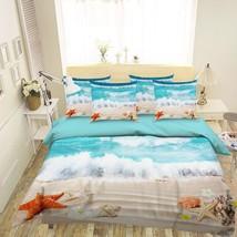 3D Sea Star Beach Sky 16 Bed Pillowcases Quilt Duvet Single Queen King US Summer - $102.84+