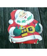 VTG Santa Claus Red Diecut Cardboard HO HO HO Lowe James Jonathan Christ... - $42.75
