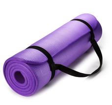 Exercise Mat Thick HD Foam PURPLE Yoga Floor Pilates Stretching Gym Work... - $26.04