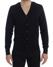 Dolce & Gabbana Blue Cashmere Button Cardigan Sweater - $497.62