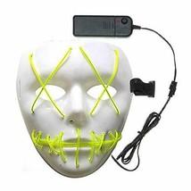 AOFOX Máscara de Miedo de Halloween, máscara de Disfraces de (Amarillo) - $17.49