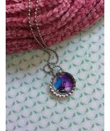 Purple Sky Dragon Bottle Cap Necklace - $3.60
