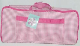 Oh Mint 002BGHP Gingham Toddler Nap Roll Color Hot Pink image 1