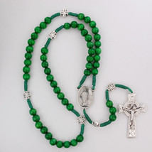 St. Patrick Irish Green Wooden Rosary with a FREE St. Patrick Prayer Card - $34.95