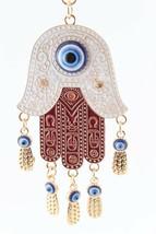 Evil Eye Hand Fashion Keychain Rhinestone Crystal Charm Blue #MCK11 - $18.17