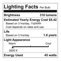 6 Pack General Electric 45w R20 Incandescent Light Bulbs White Indoor Floodlight image 4