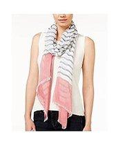 Calvin Klein Women's Pink Border Crepe Wrap Scarf - $56.84