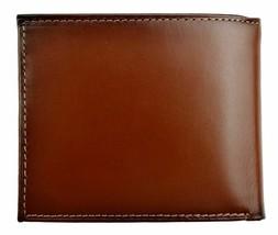 Nautica Men's Premium Leather Credit Card Id Wallet Billfold Tan 31Nu22X023 image 2