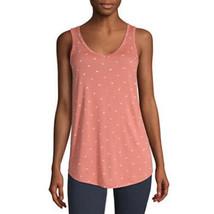 a.n.a. Women's V Neck Sleeveless Tank Top Shirt X-SMALL Sabina Geo Orang... - $12.86