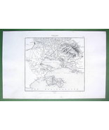 "1846 MAP - FRANCE Port of Toulon Shores of Mediterranean 10 x 15"" (25 x ... - $18.90"