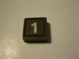 1968 3m bookshelf Quinto Board Game Piece: Brown #1 Square - $1.00