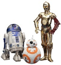 Star Wars:The Force Awakens C-3PO R2-D2 and BB-8 Artfx+ 1:10 Scale Statu... - €98,11 EUR