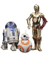 Star Wars:The Force Awakens C-3PO R2-D2 and BB-8 Artfx+ 1:10 Scale Statu... - €107,68 EUR