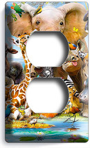 African Jungle Safari Animals Outlet Wall Plates Infant Baby Nursery Room Decor - $8.99
