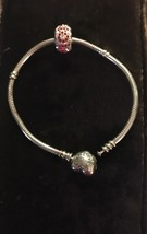 Authentic Pandora Bracelet 590719 With Swarovski Mom Bead,184802 - $67.28