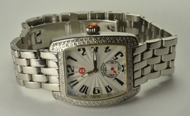Ladies Michele Deco Mini Urban Diamond Stainless Steel Wrist Watch H-I, SI - $799.00