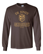 492 Dr. Jones Archaeology Long Sleeve Shirt 80s movie costume party Indiana new - $19.99+