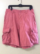 J Crew 100% Button Fly Cargo Shorts Men's 32 - Salmon Pink Red - $19.34