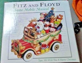 FITZ & FLOYD COLLECTIBLE MUSIC BOX  PORCELAIN MUSIC BOX NEW OLD STOCK - $37.39