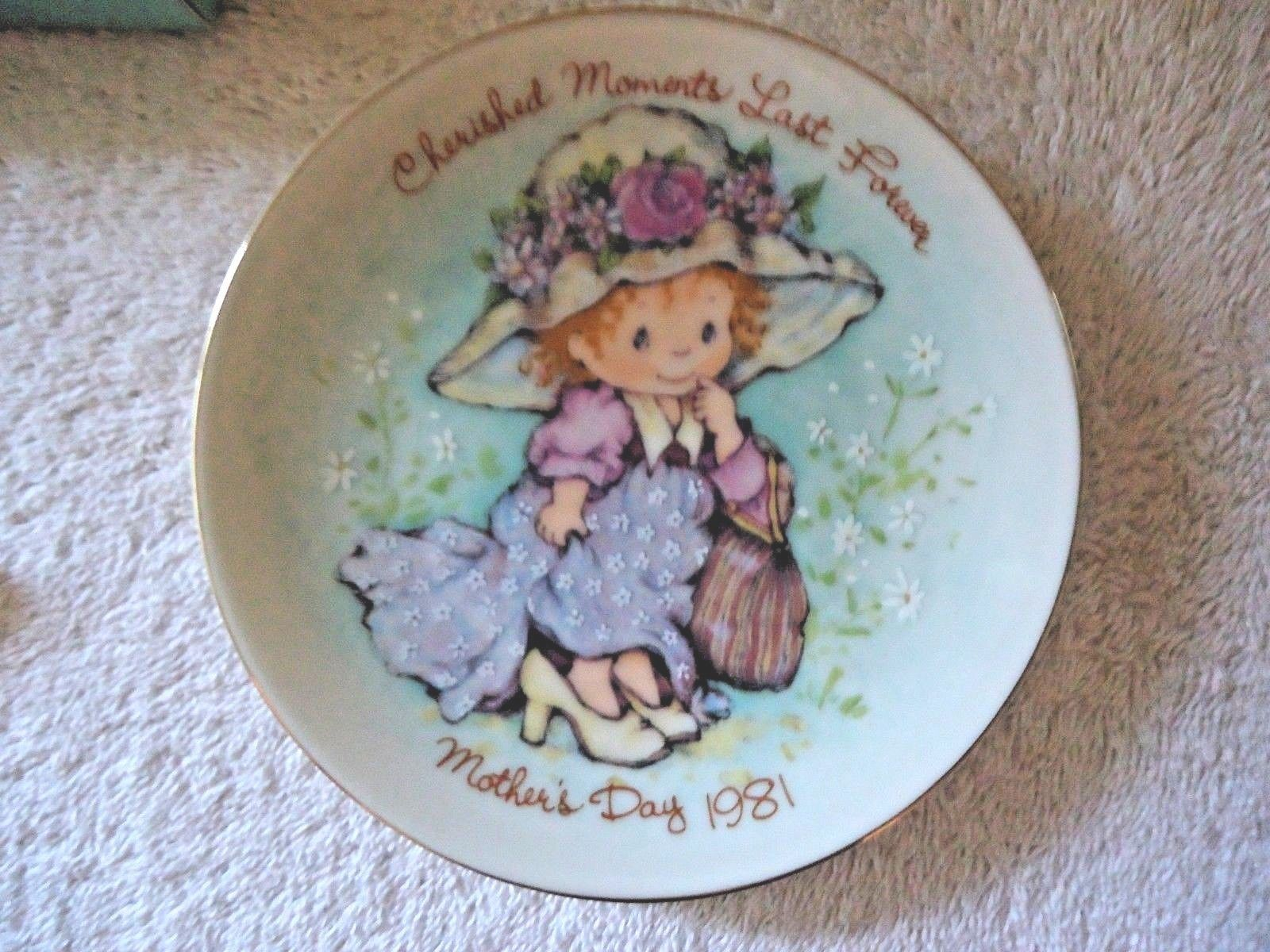 "Vintage "" NOS "" 1981 Cherished Moments Avon Mothers Day Plate With Easel"