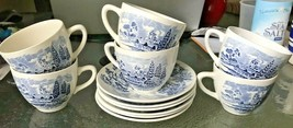 Set 6 Wedge wood Enoch Countryside Cups And Saucers VGC - $54.00