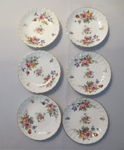 Vtg Minton Marlow China Roses 6 butter pats or coasters - $40.00