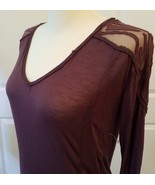 FREE PEOPLE KNIT AND LACE LONG SLEEVE TOP, SIZE SMALL  - $29.00