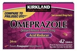 Kirkland Signature Omeprazole 20 mg,42 Tablets Heartburn acid reducer,US... - $19.55