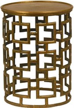 End Table DOVETAIL CHASE Brass Antique Cast Aluminum New - $449.00