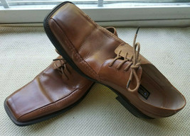 Stacy Adams Mens Shoe 11 M Brown Leather Cade 24101-03 Oxford Dress Squa... - $24.70