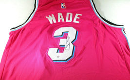 DWAYNE WADE / 13 X NBA ALL-STAR / AUTOGRAPHED MIAMI HEAT PRO STYLE JERSEY / COA image 1
