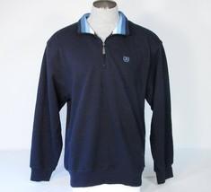 Izod Dark Blue 1/4 Zip Pullover Sweater Mens  NWT - $37.49