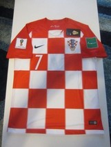 e4639e5f7ab9ef Nike Ivan Rakitic  7 Croatia Hrvatska 2018 Fifa World Cup Home Jersey  Patches -  99.99