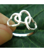 Three Heart Interlocking Ring - Sterling - $22.00