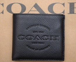 NWT Coach $175 Men's 1941 NY House of Leather Black Billfold Wallet F24647 - $69.99