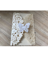 50pcs Butterfly customize Laser Cut Wedding Invitations Card,Birthday In... - $60.40