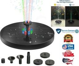 Solar Power Fountain LED Colorful Lights Shower Fountain Garden Pond Poo... - $9.98
