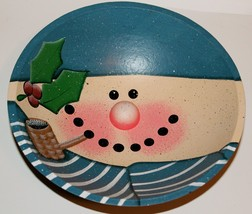 Snowman Wooden Bowl-Cute Little Bowl. - $15.38