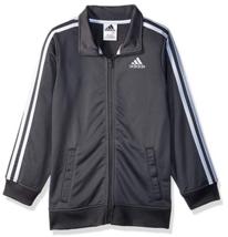 adidas Boys Dark Grey Iconic Tricot Jacket AP5411 New Size 5 - $19.79
