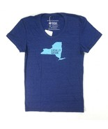 NEW LOCALLY GROWN LADIES NAVY HEATHER GRAPHIC T-SHIRT SIZE M - $2.97
